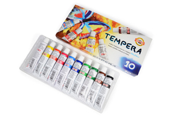 Set of distemper colors - 10 pcs in package