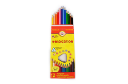 Triangular colored pencils - 7mm thin