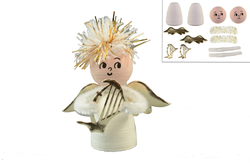 Angel, height 7,5cm, 2pcs in bag, set
