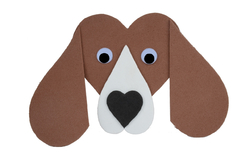 Dog Basset 125mm, 1pc, made of moosgummi