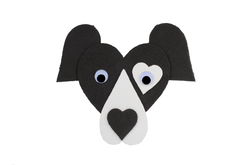 Dog Collie 130mm, 1pc, made of moosgummi