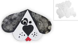 Dog Dalmatian 105mm, 3pc, made of paper