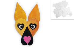 German Shepherd 170mm, 3pc, made of paper