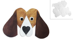 Dog Basset 125mm, 1pc, made of paper