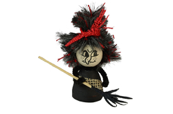Witch with bun in bag, 12cm