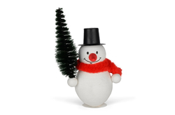 Snowman with tree 75mm, 1 pc in bag