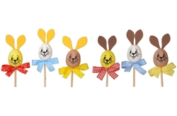 Rabbit with ribbon 7,5cm., 3 pcs. in bag