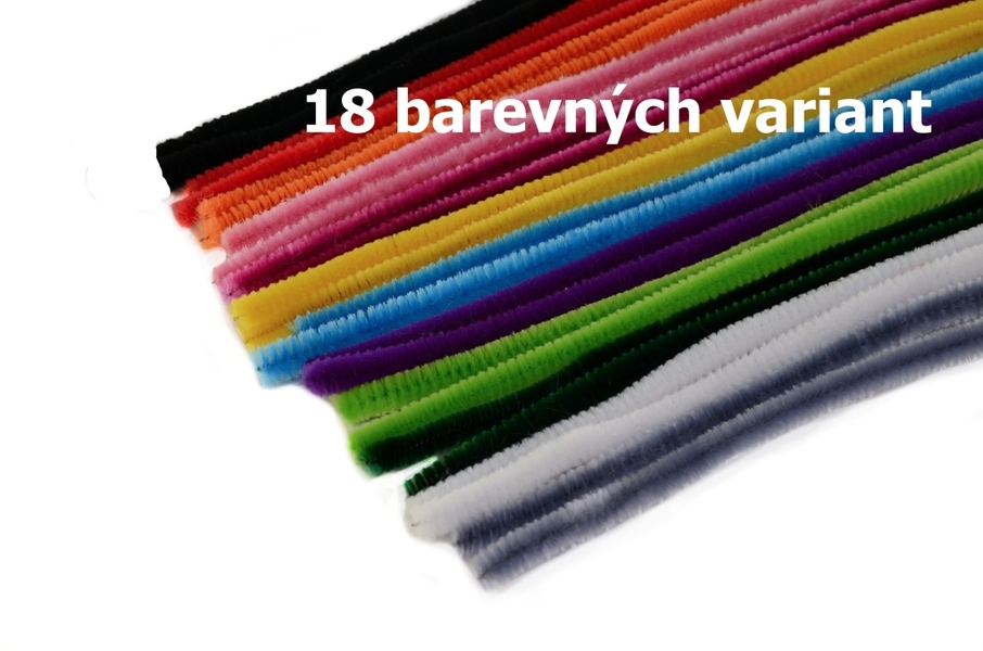 Chenille ∅ 8mm - Lenght 50cm - 20 pcs in bag