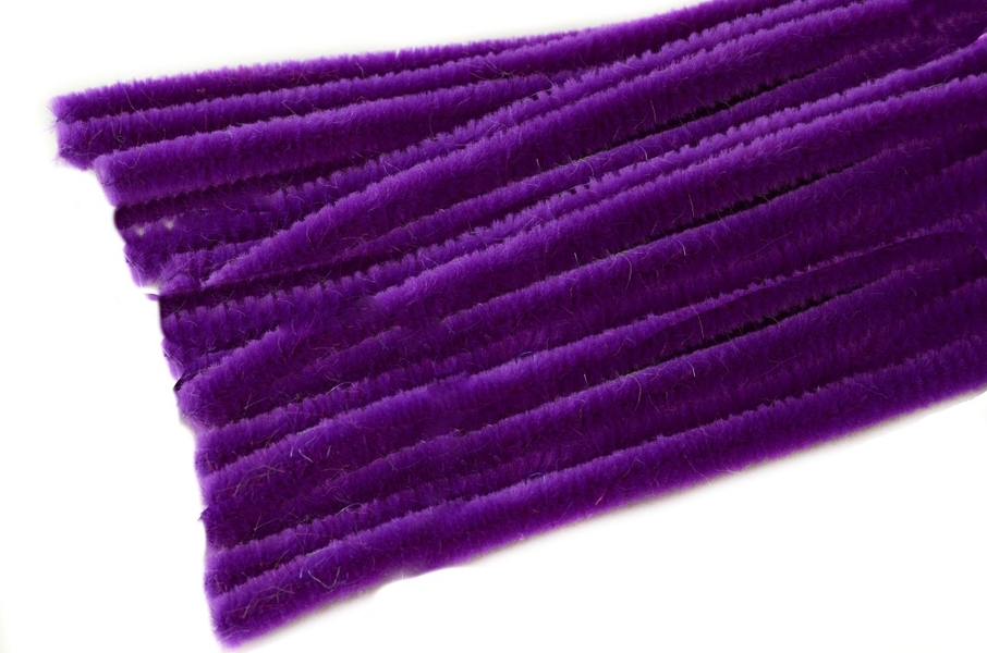 Chenille ∅ 8mm - Lenght 50cm - 10 pcs in bag