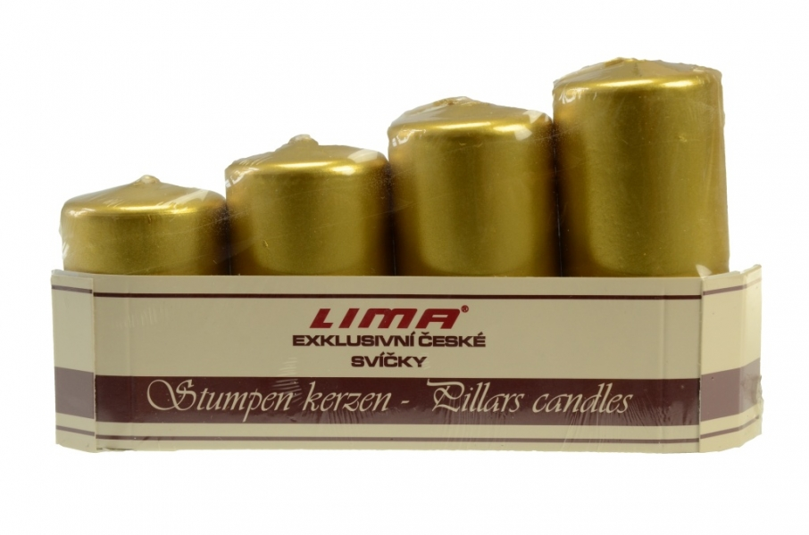 Advent candles - Pyramid - Metallic colors