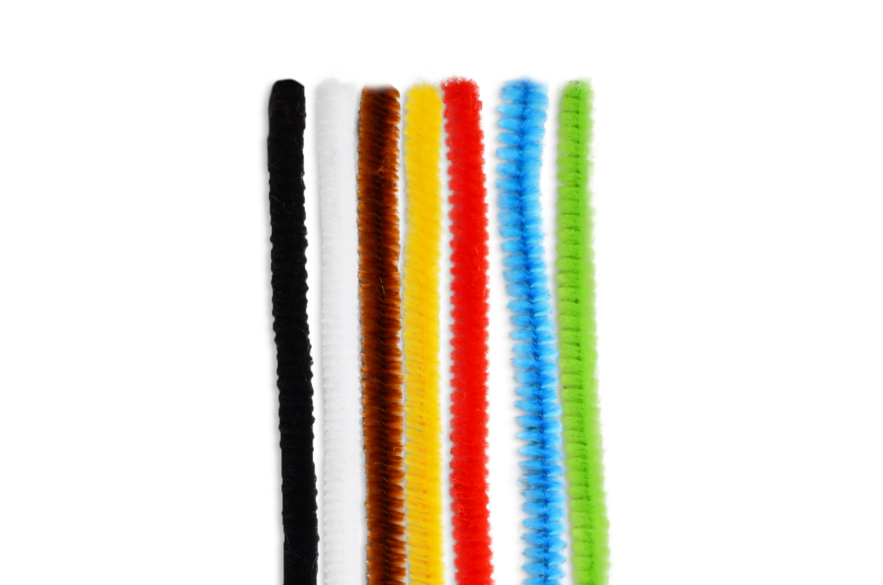Pipe cleaner for bycicle center ∅ 8mm, 30cm, mix 7 colors