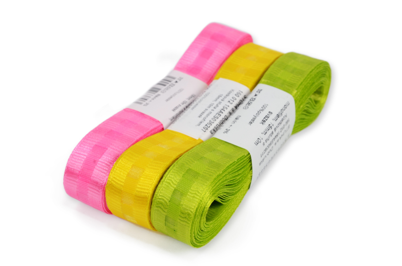 Dice ribbon with monofilament 15mm, 10m