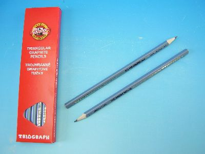 Triangular graphite pencil n.2 - 12 pcs in package