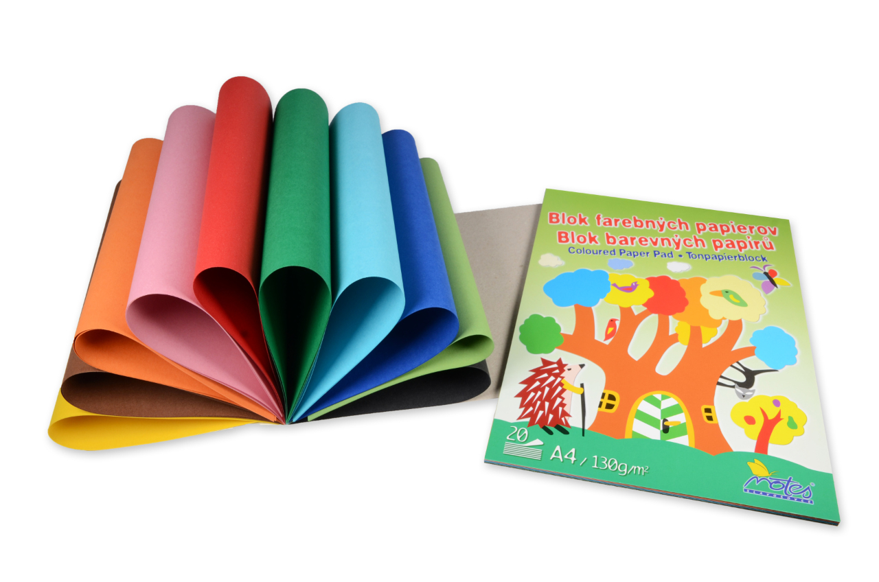 Coloured Paper Pad A4, 20 pcs