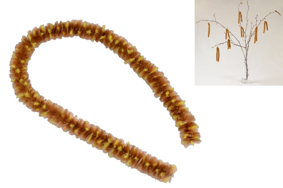 Chenille (Hairy wire) for catkin Ø 8mm, 1m in bag