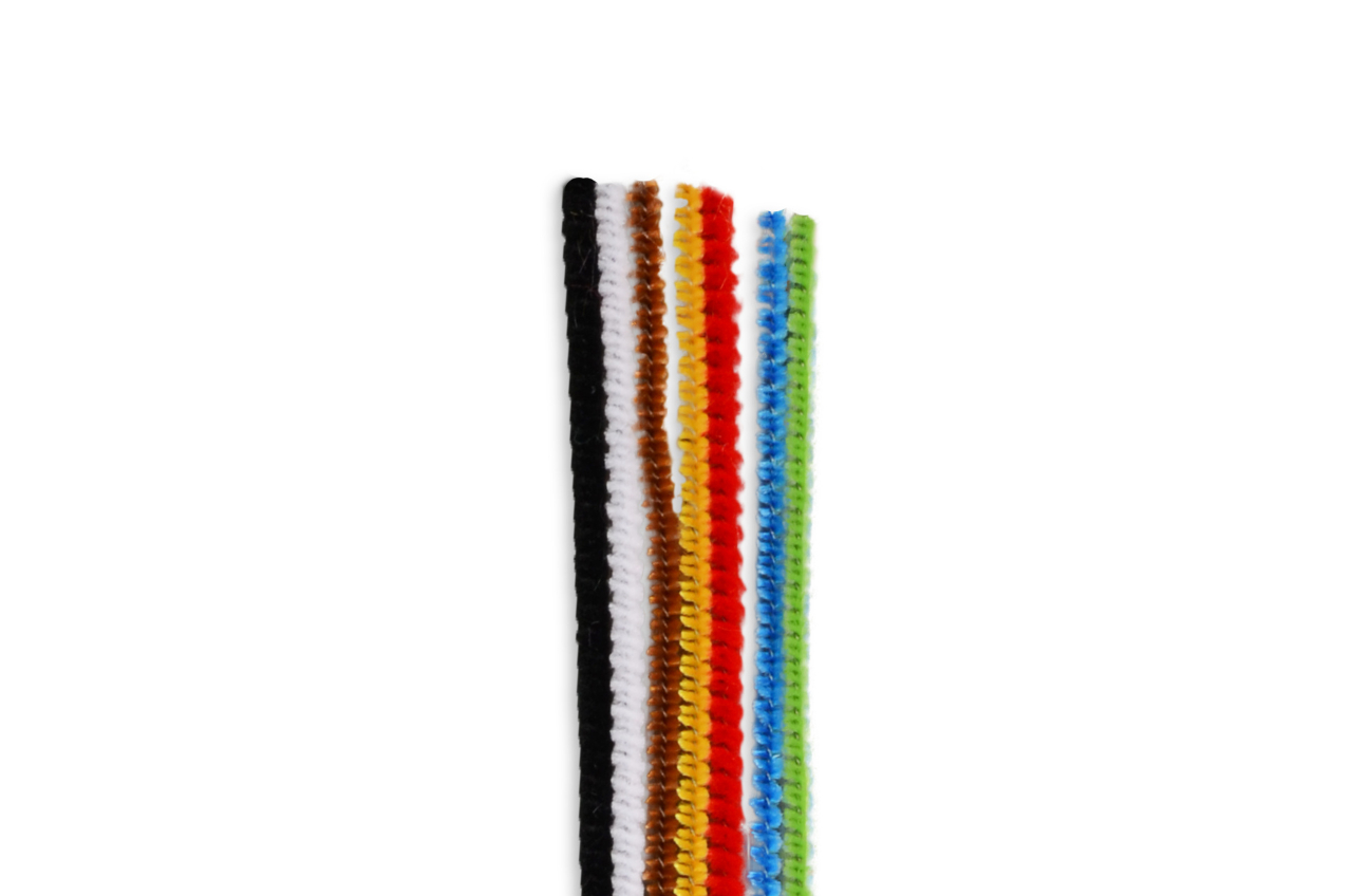 Chenille ∅ 3mm, 30cm, 7 colors mix