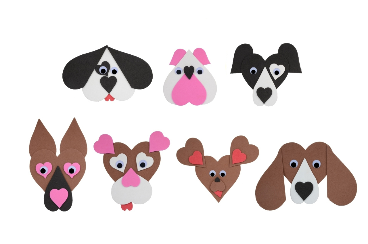 Dogs 7pc, made of paper - kopie