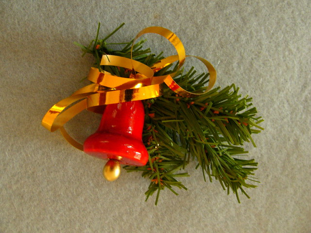 Christmas twig with a bell