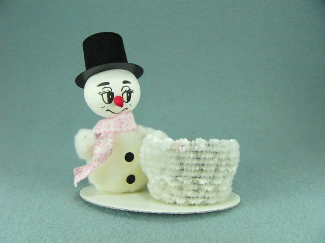 Snowman with a basket