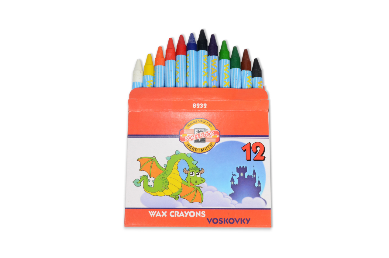 Wax crayons, 12ks