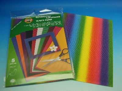 Curly cardboard 250x350mm, 5 pcs in package